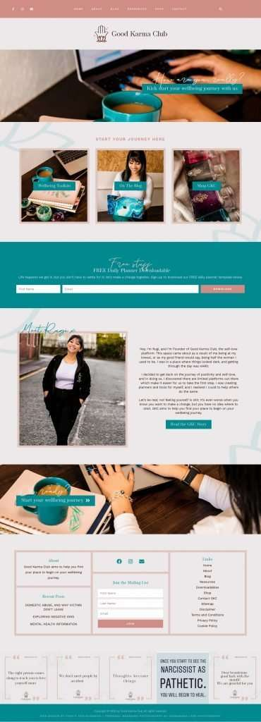 female entrepreneur branding and web design